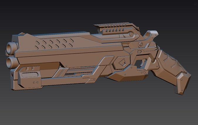 reaper blackwatch reyes gun from overwatch 3d model stl 1