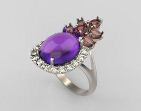 Design ring with gems 3D print model