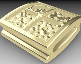 Shamballa bracelet bead rectangular 3D print model