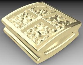 3D printable model Shamballa bracelet lock gold
