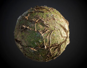 Tree Roots Seamless PBR Texture 3D