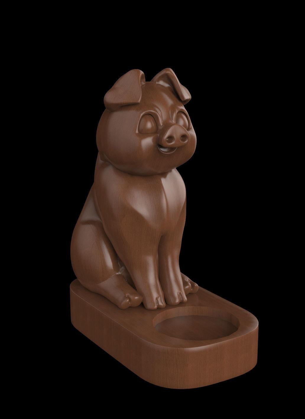 Figurine CNC 3D print model candlestick