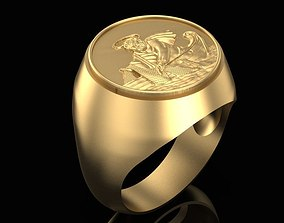 christianity 3D print model Fishermans Ring