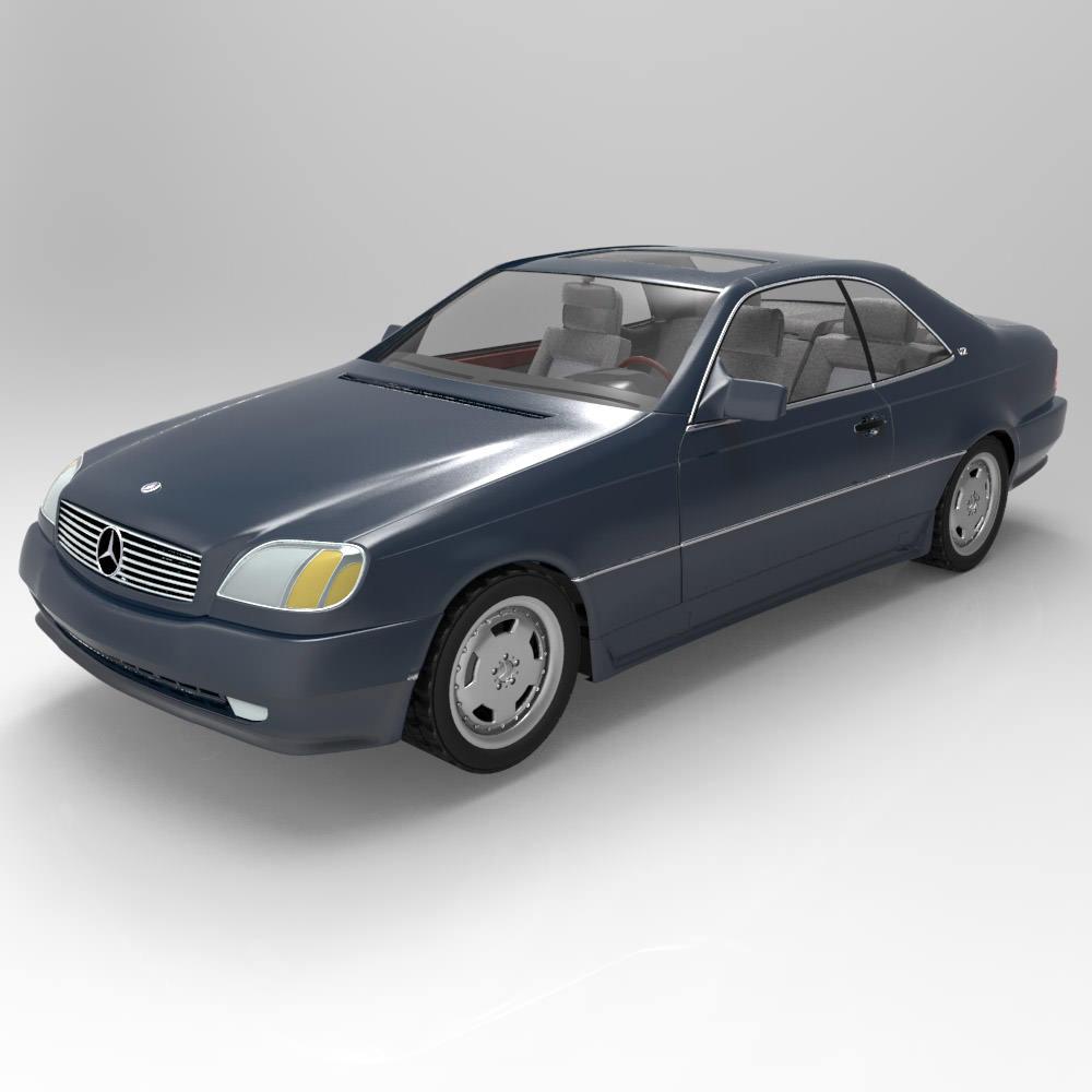 Mercedes benz s600 3d model max obj for Mercedes benz s models