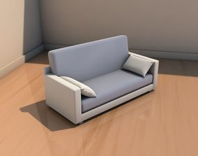 Sofa with cushions 3D tribeca