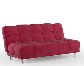Red Bed Sofa 3D model