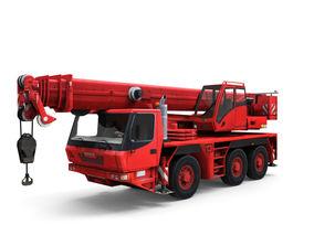Mobile auto crane 3D model
