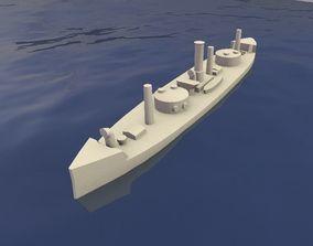 3D print model Brazilian Ironclad Lima Barros