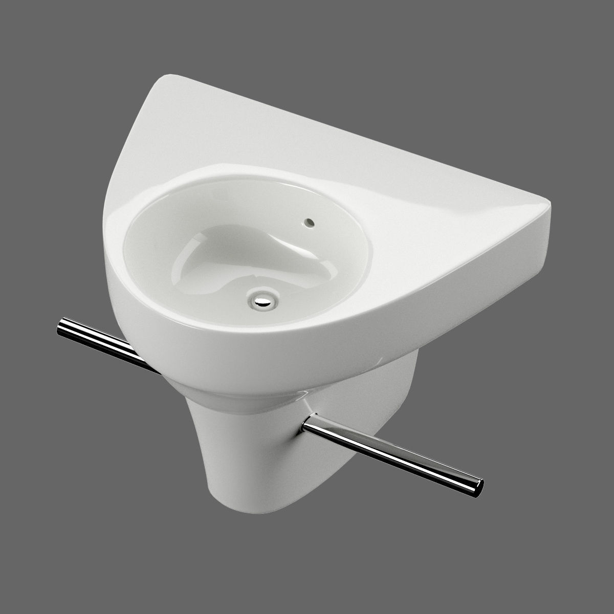 Washbasin Duravit Starck 2 Art 071450 3D Model