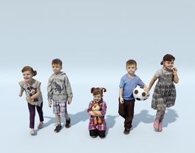 Posed Children - Scanned Characters 3D model