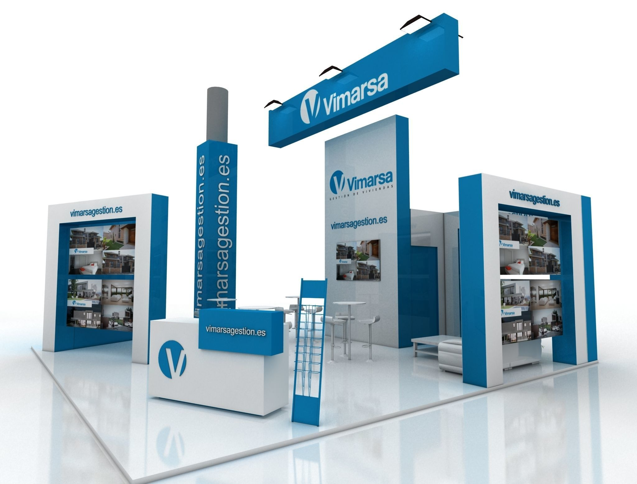 Exhibition Stand 3d Model Free Download : D asset realtime exhibition stand cgtrader