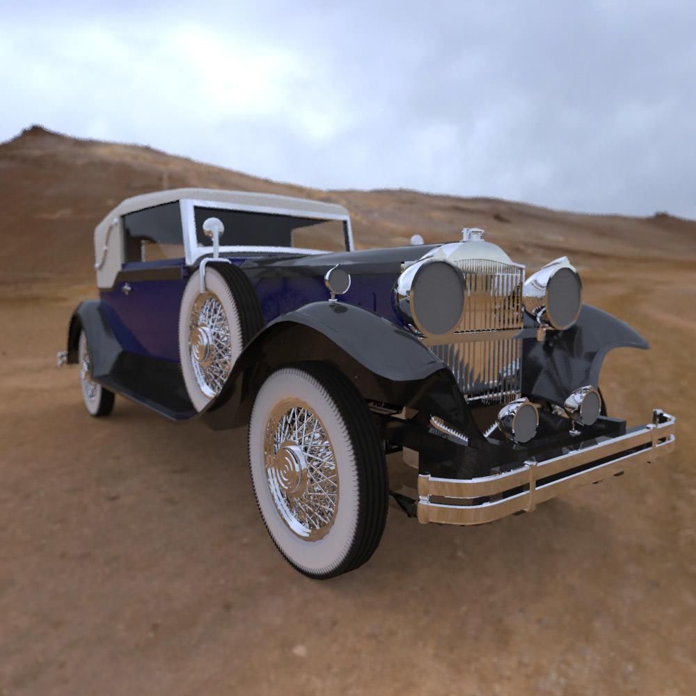 Packard Car 1930 3D Model MAX
