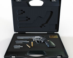 3D Gun case with a revolver Colt Python 357