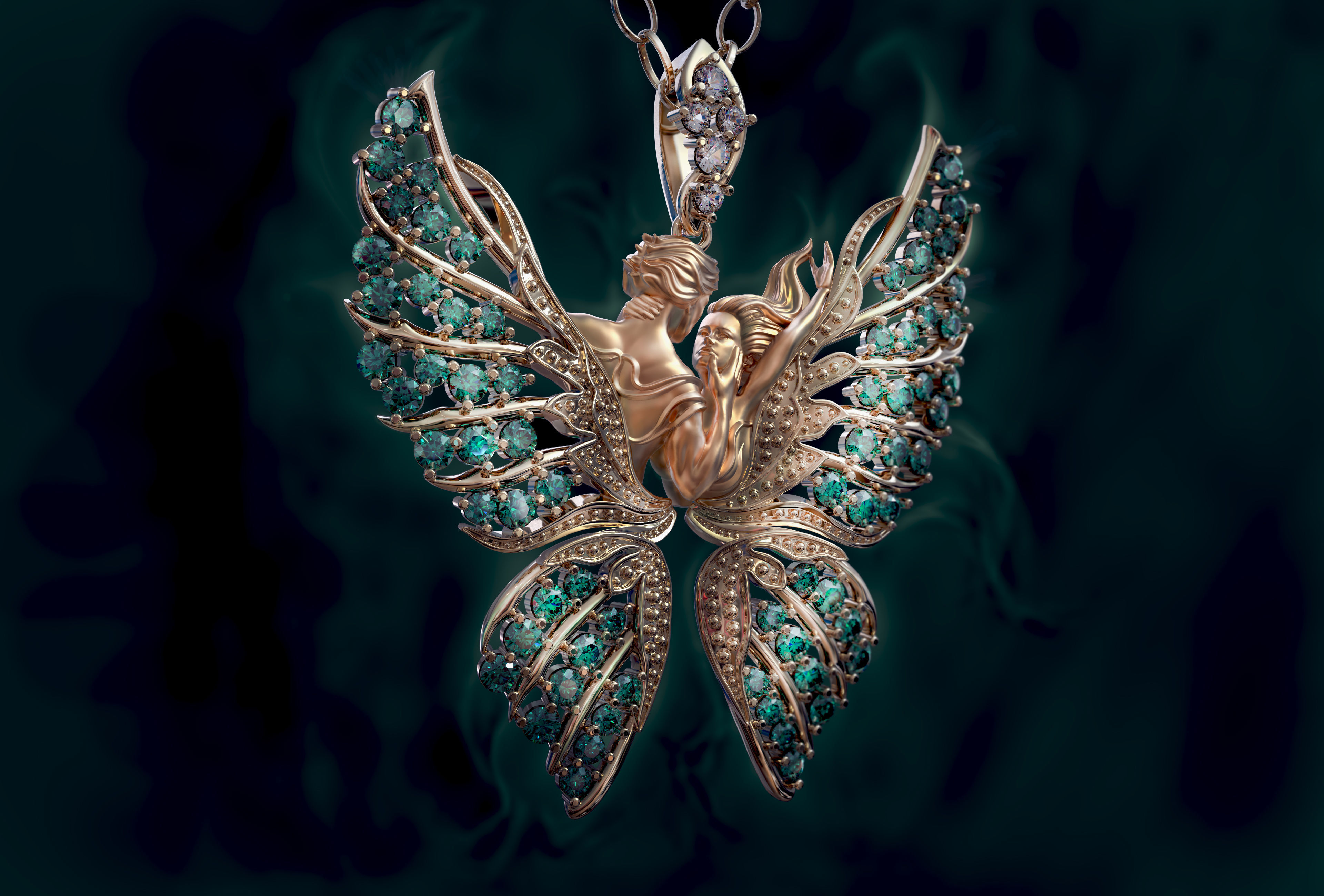 Pendant Magerit butterfly