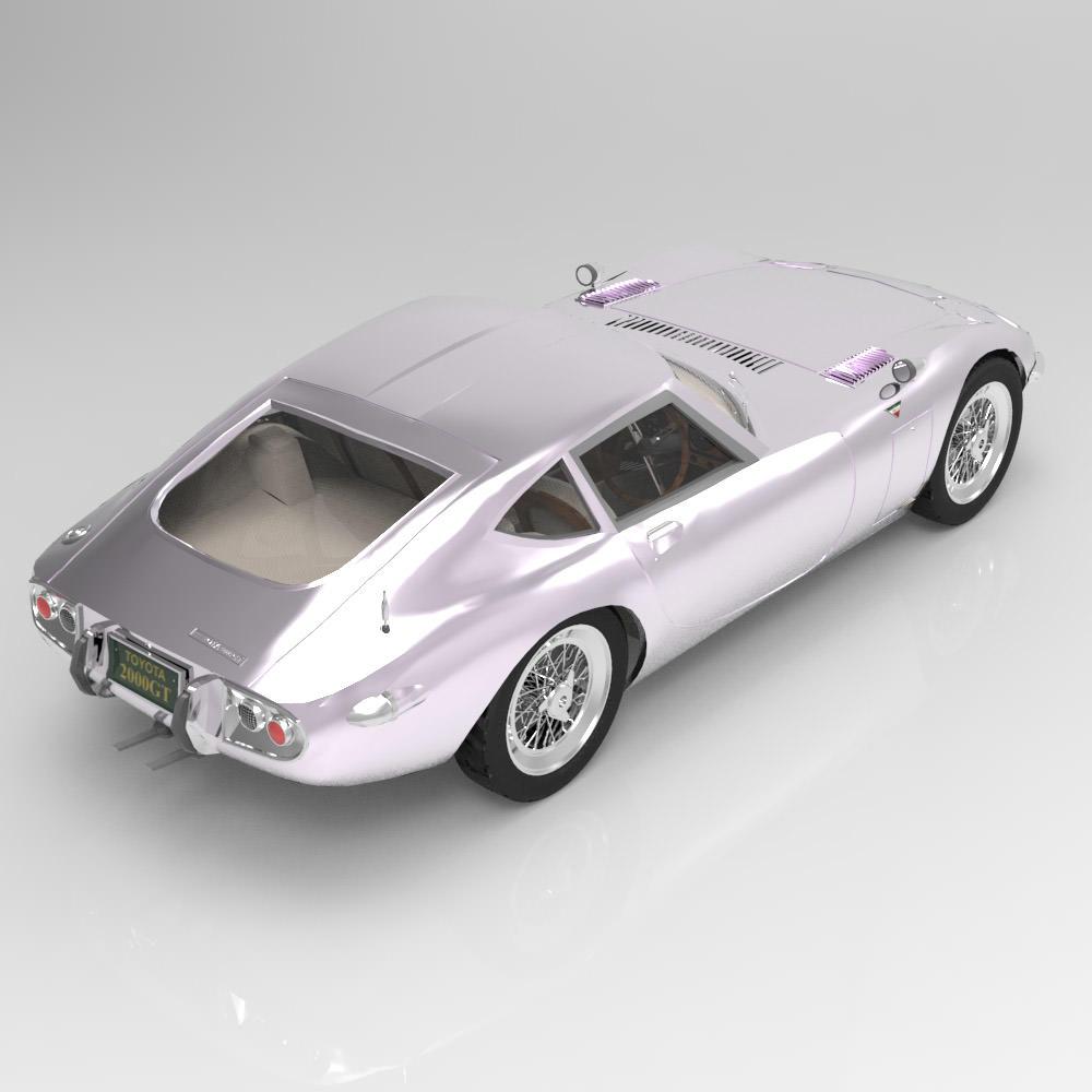 Toyota 2000 GT 3D Model MAX PDF