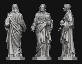 3D print model Jesus with Sacred Heart Statue