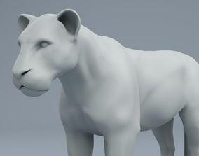 3D model lion sculpture zbush
