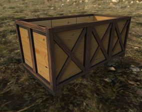 Wood box 3D asset realtime