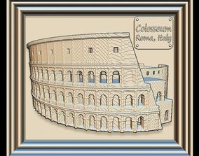 3D model Colosseum Panno STL File for CNC Relief engraving