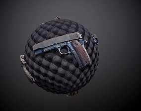 3D Gun Pistol Weapon Case Seamless PBR Texture