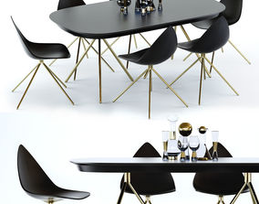 3D model BoConcept Ottawa Table and Chair