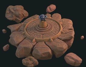 3D model Fantasy pedestal