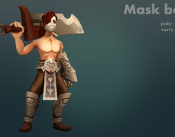 3d asset mask boy realtime animated