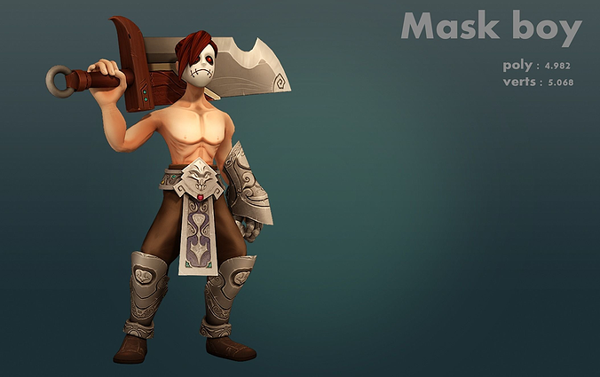 Introduction To Character Modeling In Blender Free Download : Mask boy d model cgtrader