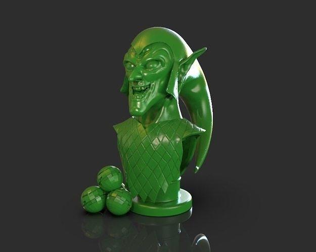 green goblin bust 3d model obj mtl stl ztl 1