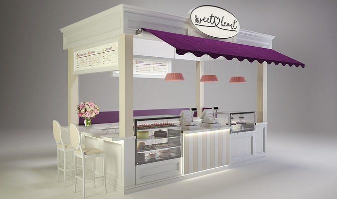 sweetheart cake booth 3d model skp 1