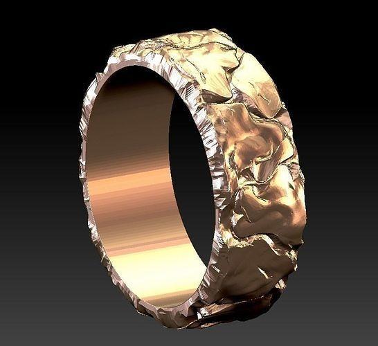 ring stone lava 3d model stl 1