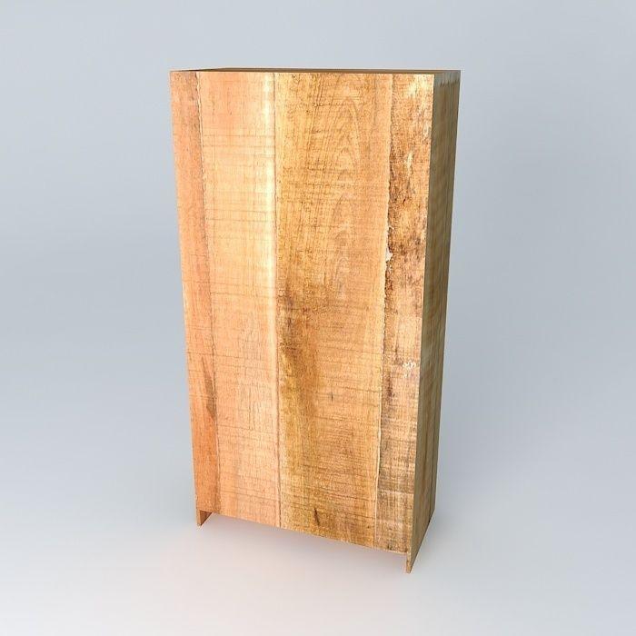 armoire taiga maisons du monde 3d model max obj 3ds fbx stl dae 2