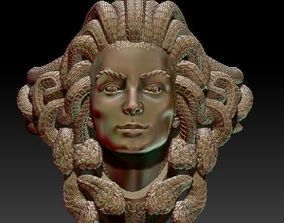 Ring Gorgon 3D model Zbrush gold