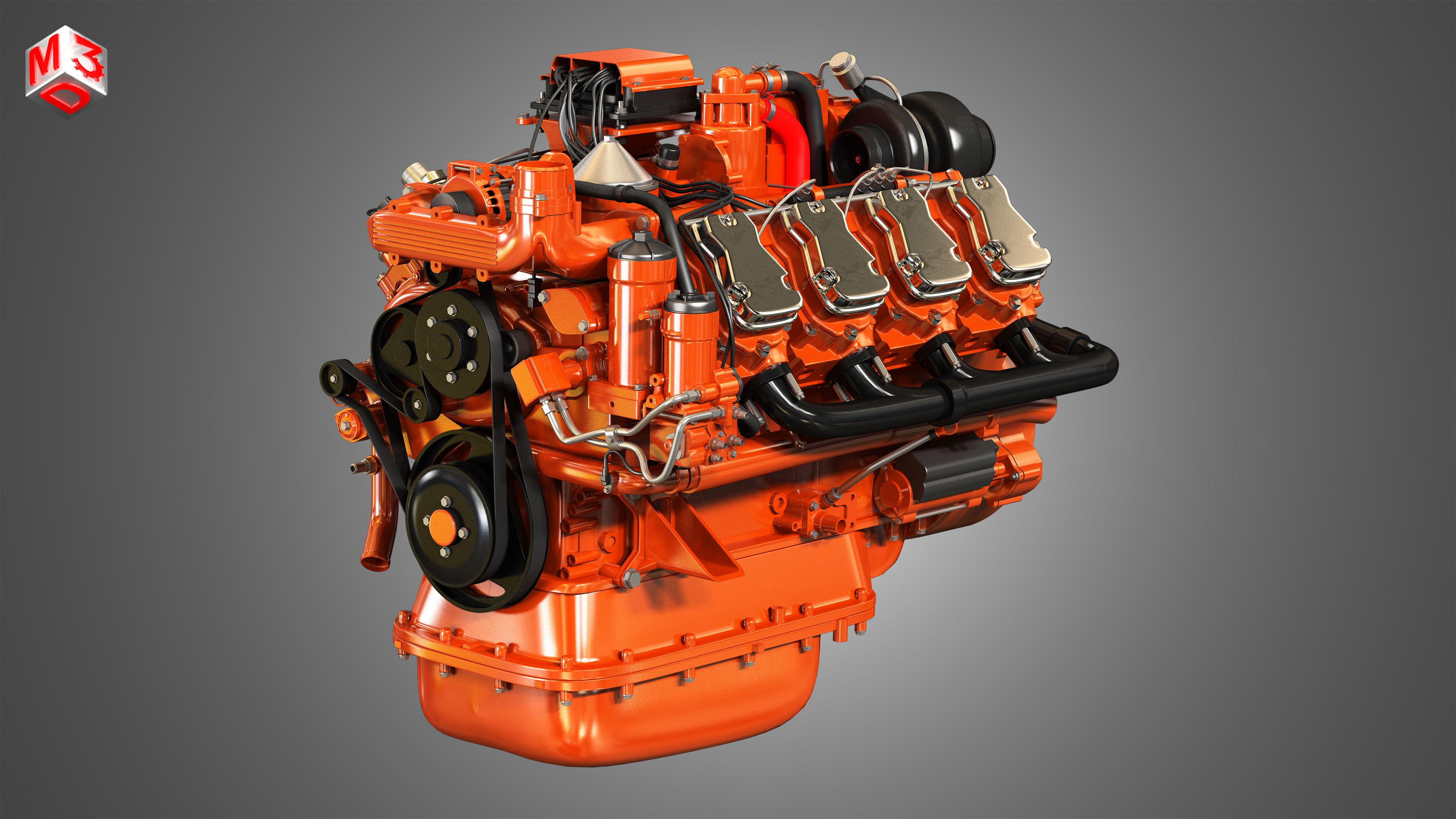 DC16 Truck Engine - V8 Diesel Engine