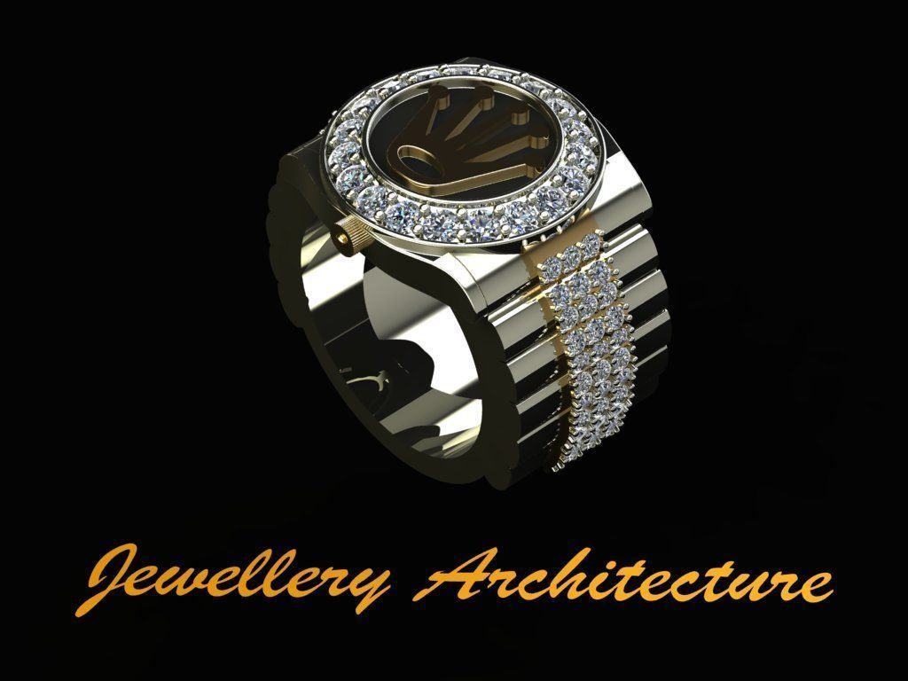 Rolex Style Mens Ring