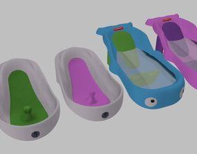 Bath tube baby Decorative 3D model
