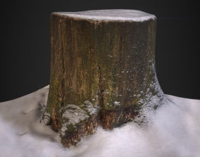 3D model PBR Stump