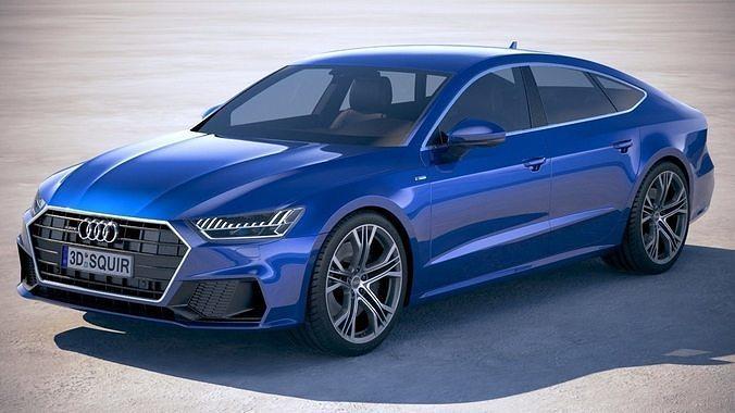 3d Audi A7 S Line Sportback 2018 Cgtrader