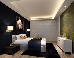 Simple bedroom 3D model