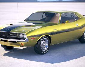 3D Dodge Challenger 1970 with interior