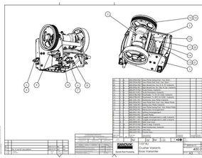 3D Sandvik jaw crusher 1107RJ complete drawing