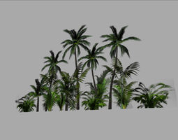 realtime jungle backround 3d asset