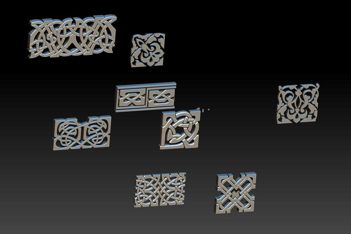 Celtic ornament set stl models