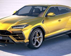 3D model luxury Lamborghini Urus 2019