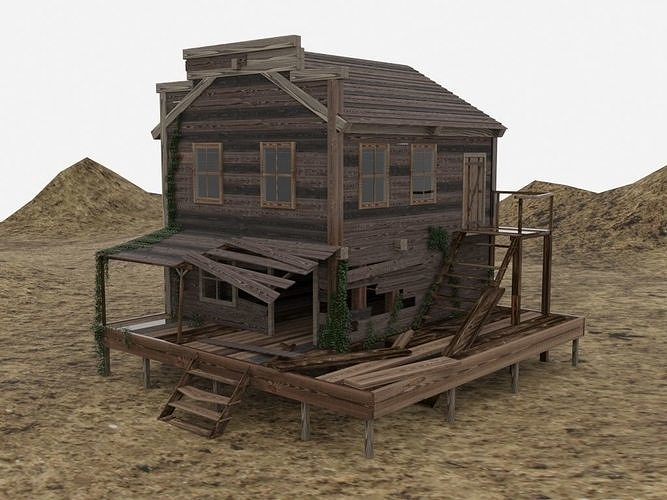 old wooden house   3d model max 1
