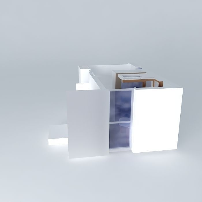 Bathroom shower sinks a house in nantes frederic tabary 3d model max obj 3ds fbx stl dae - Frederic tabary ...