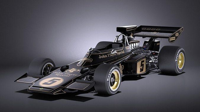 lotus 72d 1970-1975 john player special grand prix vray 3d model max obj mtl 3ds fbx c4d lwo lw lws 1