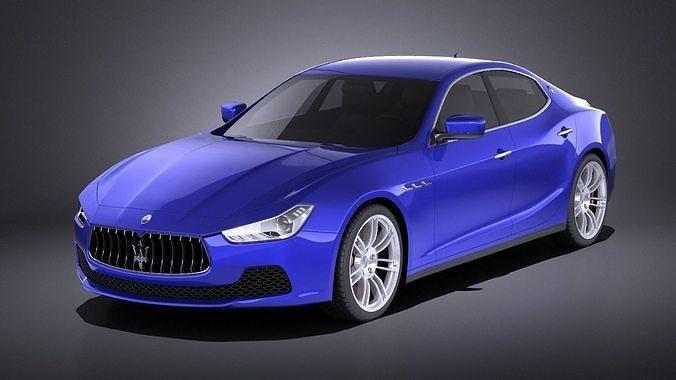 Maserati Ghibli 2016 Vray Model Max Obj Mtl S Fbx C4d Lwo Lw Lws 1