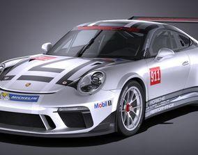 3D model Porsche 911 GT3 Cup 2017