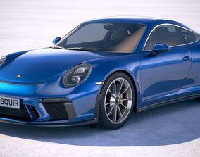 3D model Porsche 911 GT3 Touring 2018
